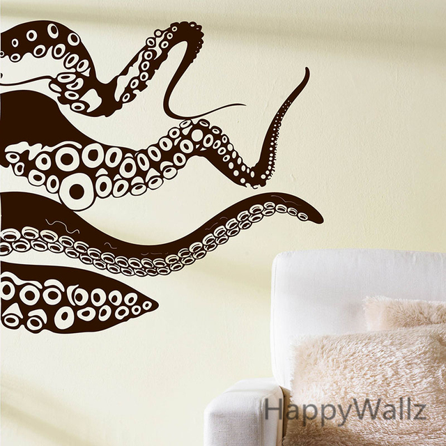 Octopus Wall Sticker Octopus Wall Decals Decorative Modern Vinyl Wall Art  DIY Vinyl Baby Nursery Removable
