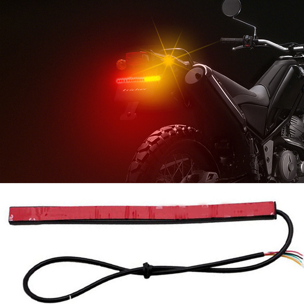48SMD Waterproof UV DC 12V Universal Car Signal Light License Plate Turning Left Tail Brake Motorcycle Flexible Stop Lamp