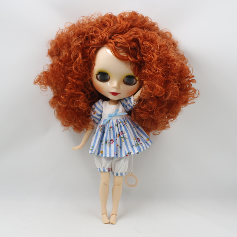 Toys & Hobbies Icy Factory Blyth Doll 280bl2231/2237 Red Brown Hair Joint Body Wild-curl Up 1/6 30cm Toy Gift