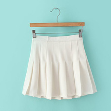 2019 Korean Style Solid Color High Waist Skirt Plus Size Harajuku Women Skirts Ladies Sexy White Summer