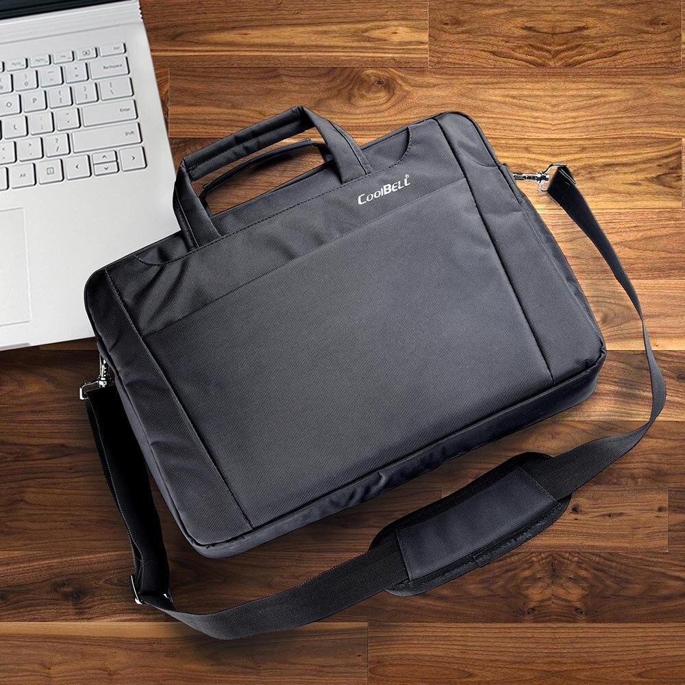 CoolBELL 15 6 17 3 inch font b Laptop b font Notebook Handbag Messenger Sleeve Case
