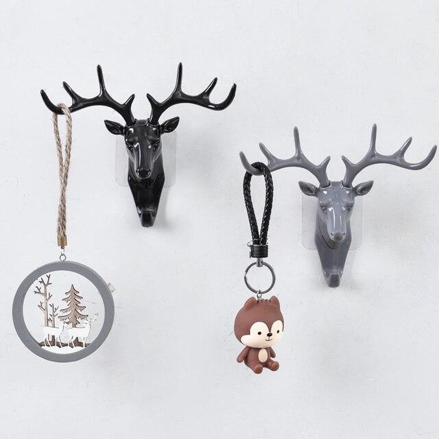 European Plastic Deer Statue Crafts Animal Ornament Shelf Rack Stand Figurines Home Decor Living Room Decor Wedding Gift 2