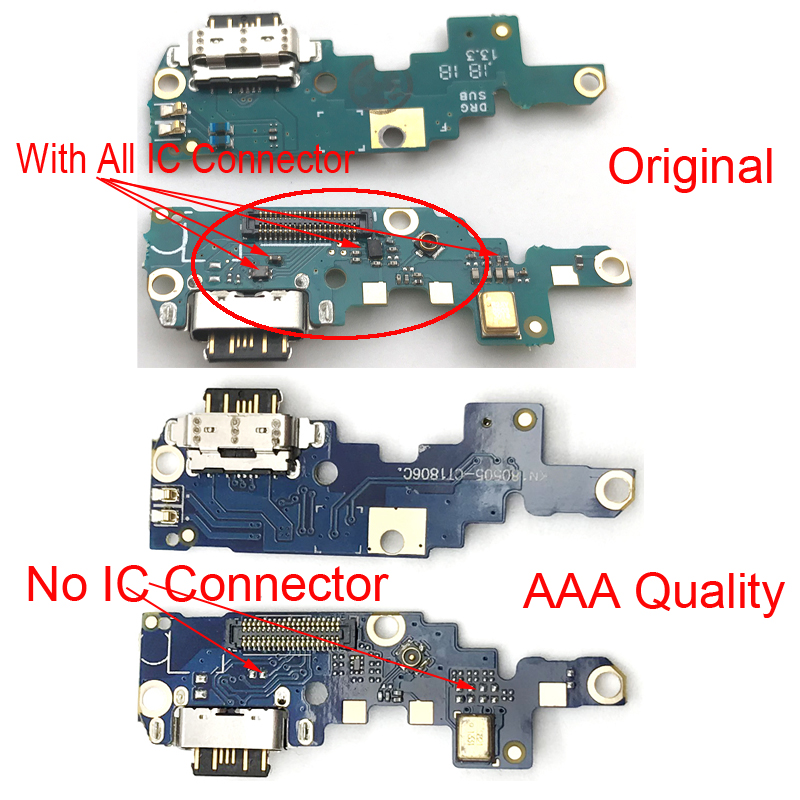 Type-C USB Charging Port Charger Dock Antenna Connector Mic Flex Cable Board For Nokia X6/ 6.1 Plus TA-1099/1103