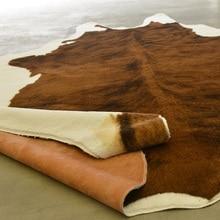 MUZZI ковер с леопардовым рисунком коровы, искусственная кожа животных, натуральный ковер, большой размер, декор для гостиной, Нескользящие ко...