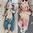 High quality baby spring and autumn cartoon onesies baby boy climbing clothes hundred days 6 newborn clothes 3 months 0 clothes