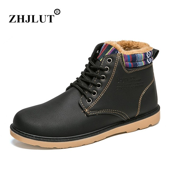 Cuir Hommes Gardent Imperméables Chaussures Chaudes LxMua