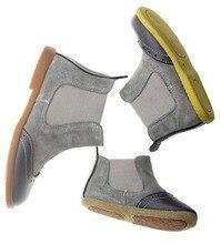 2016 Automne hiver Nouvelle main confortable filles bottes en cuir Martin garçons bottes de mode enfants bottes de Haute Qualité enfants shoes