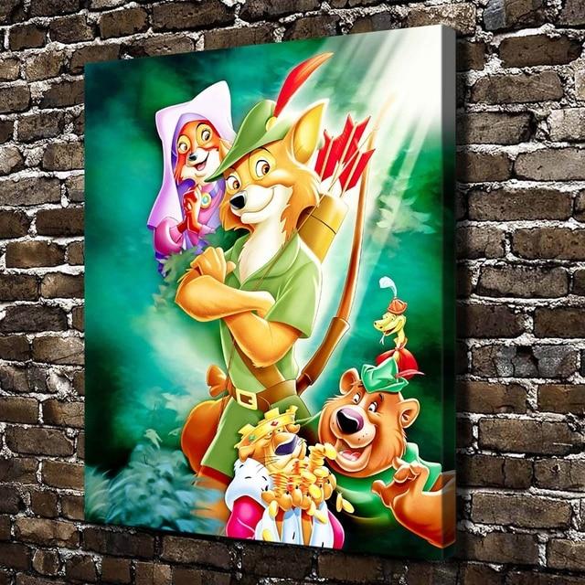 a993 robin hood crianças dos desenhos animados do filme hd cópia da
