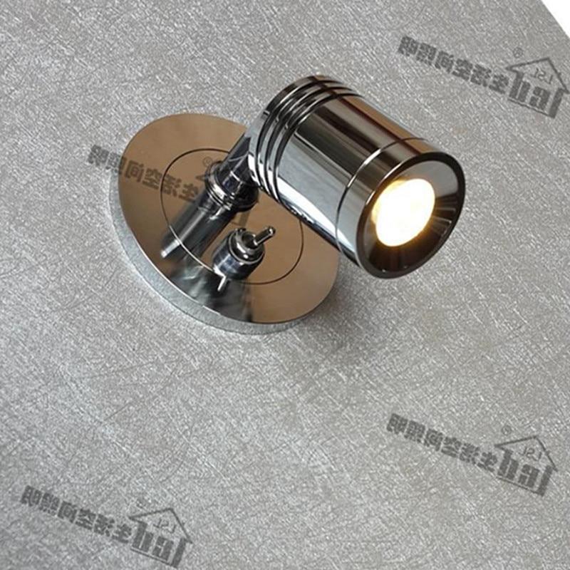 Встраиваемые настенные светильники с выключателем хромированной отделкой ультра тонкий База AC100-240V DC 12 В 24 В качество компоненты поворотна...