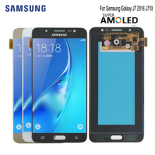 Super Amoled For SAMSUNG Galaxy J7 2016 J710 LCD Display Touch Screen For SAMSUNG J7 2016 LCD Display J710F 5.5'' LCD Display все цены