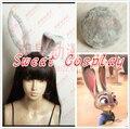 New Movie Zootopia Rabbit Cosplay Ears Zootopia Judy Cosplay Tail Rabbit Tail Pink Rabbit Ears