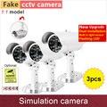 3 шт. # Поддельные камеры пуля тип моделирование пустышки cctv камеры с день/ночь и датчик вспышки мигает предупреждение СВЕТОДИОДНЫЕ лампы GANVIS S03