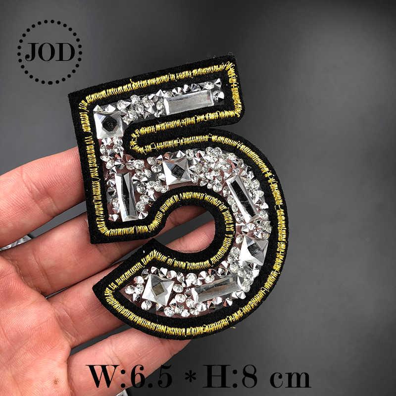 JOD Strass Ijzer op Patches voor Kleding Diamant Decoratieve Borduurwerk Kleding Patch Applique Crystal Stickers Badges Biker