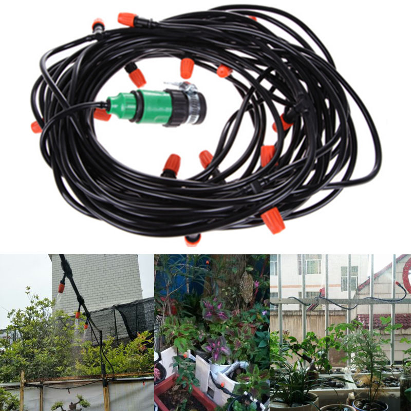 Drip Irrigation System Adjustable Sprinkler Spray Nozzle Set Garden Dripper Head Connector for Flowerspot Plants Watering Kit in Watering Kits from Home Garden
