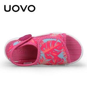 Image 4 - UOVO bebek yürümeye başlayan sandalet 2020 yaz ayakkabı kızlar ve erkekler için hafif taban çocuk sandalet yüksek kalite boyutu 24 # 32 #