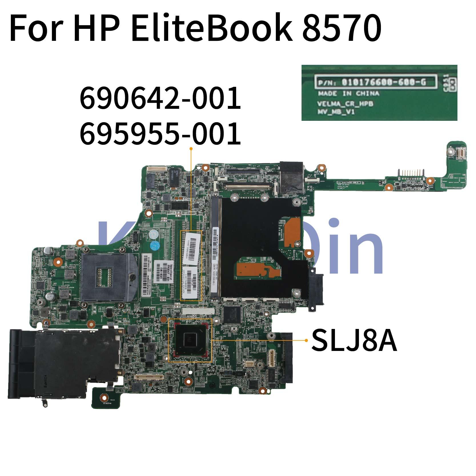 KoCoQin Laptop Motherboard For HP EliteBook 8570W QM77  2RAM Mainboard 690642-001 690642-501 010176600-600-G SLJ8A