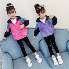 2019 Childrens Jacket for Girls Teenage Hoodies Coat With Zipper Kids Jaket Casual Spring Autumn Outerwear
