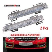 Pair DRL Daytime Running Lamp Foglight Car Fog Light Lamp For Mercedes-Benz C-Class W204 S204 W212 R172 2049068900 2049069000 стоимость