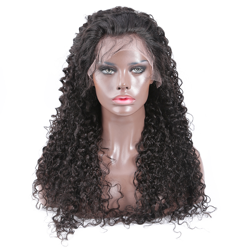 HTB1b.m bRGE3KVjSZFhq6AkaFXa1 Jerry Curly Lace Front Human Hair Wigs With Baby Hair Brazilian Remy Hair Short Curly Wigs For Women Pre-Plucked Wig