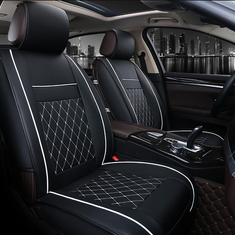 O SHI CAR 1 Front Seat Cover Artificial Leather All-around Full Surround 3d Car Seat Cushion Automobile Chair Protection Mat