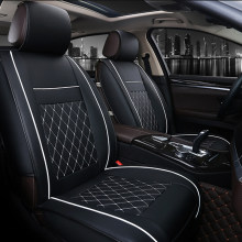 O SHI CAR 1 Front Seat Cover Artificial Leather All-around Full Surround 3d Car Seat Cushion Automobile Chair Protection Mat(China)