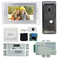Home Secure 7 Wired Intercom System Kit Set 1 Color Video Door Phone 1 Doorbell Camera