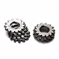 8pcs M1  Milling Machine Tools HSS Involute Gear Milling Cutter Set 20 Degree 22mm Bore #1-8 Assortment Kit Set