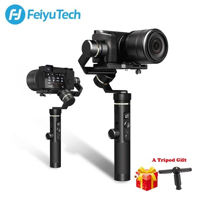 FeiyuTech Feiyu G6 Più Spruzzi Handheld Gimbal Stabilizzatore per Smartphone Gopro hero fotocamere Mirrorless sony as6000 nero