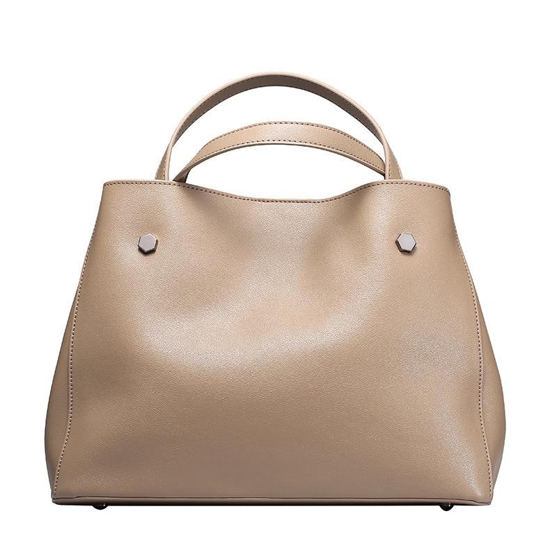 Famous Brand Women's Cow Leather Handbag Shoulder bag Designer Luxury Lady Large Tote Handbag for Women bolsa feminina 2018