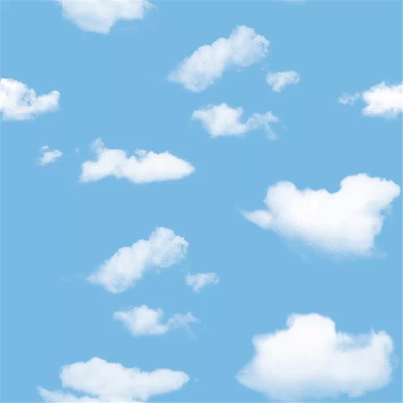 De Dibujos Animados En 3d Wallpaper Cielo Azul Pared De La