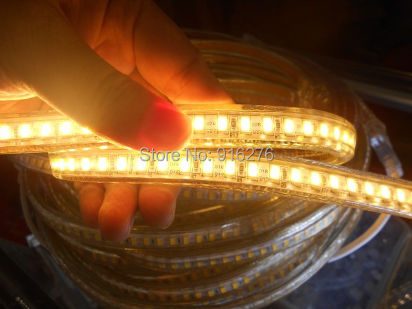 220 240V 120leds/m 5630 SMD Led Strip Flexible Dimmable Ribbon Light 5730 Waterproof Home Garden, High Brightness, Free Shipping