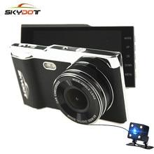 """Skydot 4.0 """"Видеорегистраторы для автомобилей тире Камера с заднего вида Cam Двойной объектив Full HD 1080 P Ночное видение Авто Видео Регистраторы Регистратор DVRs T16"""