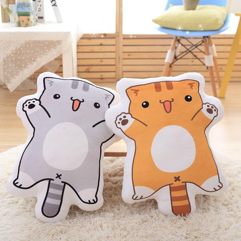 2016 новый стиль двусторонняя печать подушка анимации шоу вокруг дворе кошка плюшевые игрушки подушки креативный подарок Бесплатная доставк...