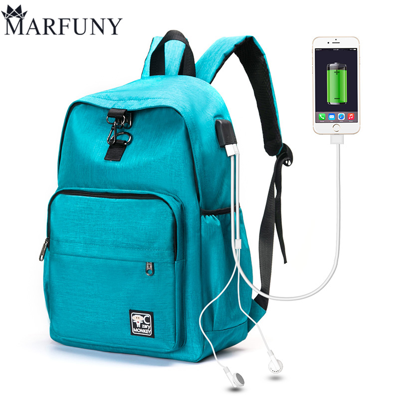 MARFUNY USB Charging Backpack For Women Men Laptop Backpack SchoolBags New Mochila Backpacks For Teenage Girls Travel Backpack