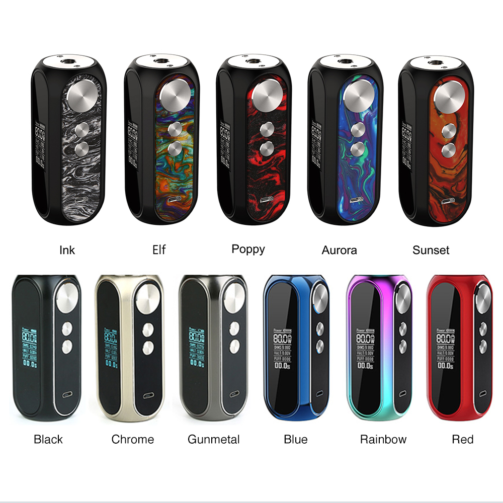 New Colors OBS Cube VW Box MOD with 3000mAh Built in Battery 0 96 inch LED