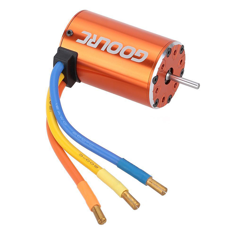 550 4300KV 4 Poles Sensorless Brushless Motor for 1/10 4WD Trucks
