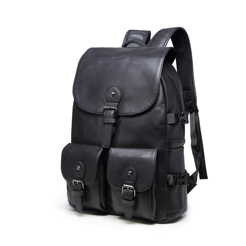 (B8383)2016 Vintage quality PU leather men women backpack, two kinds of color , suitable for mochila or shopping bag