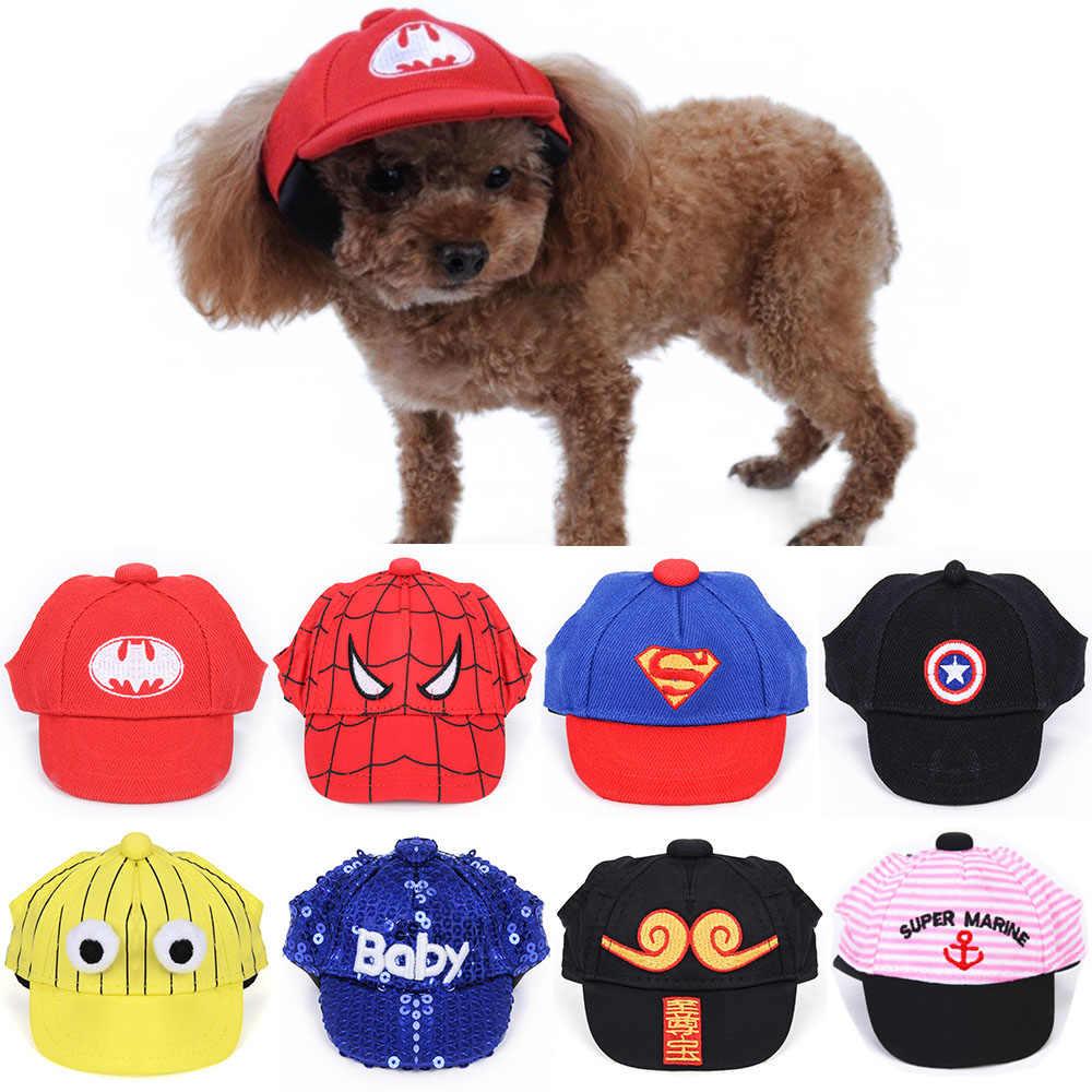 95ad32c2 Canvas Small Pets Cap Hat Dog Cat Headband Summer Outdoor Headdress ...