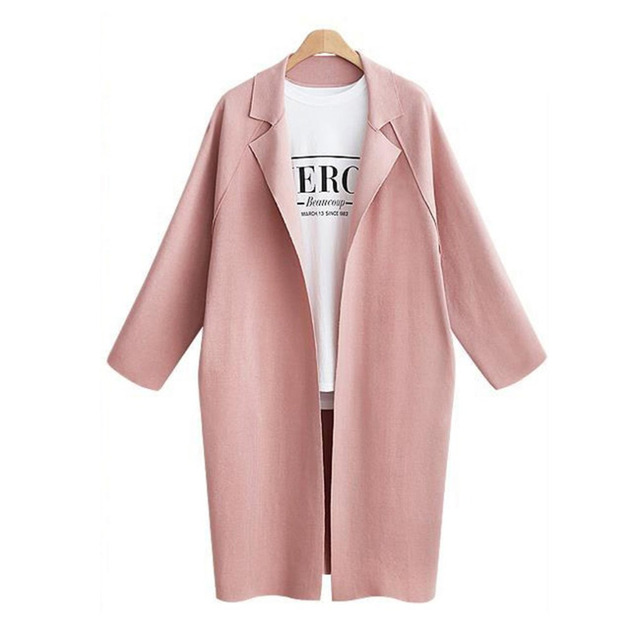 Liva Girl Lady's Long Turn-Collar Jacket