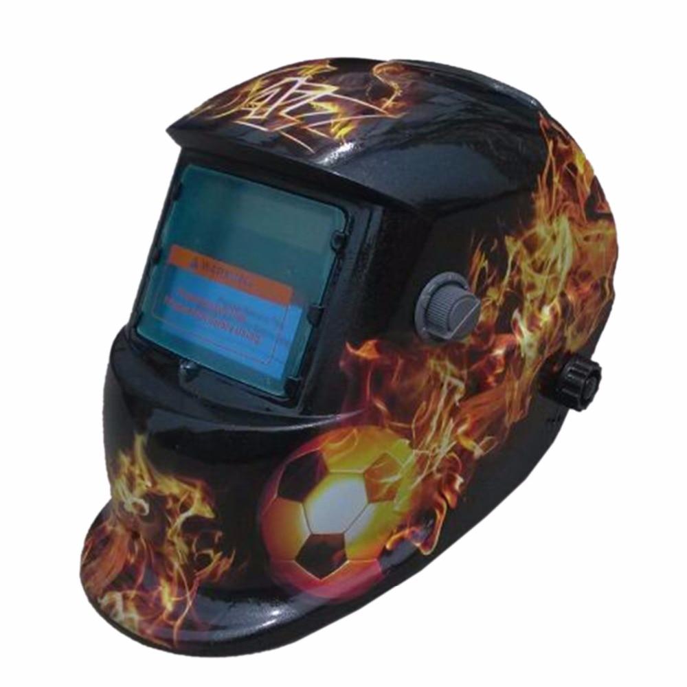 HY-HYZQ Fire Flames Auto Darkening Welding Helmet Solar Welders Mask Arc Tig Welding Helmet Welding Lens for Welding