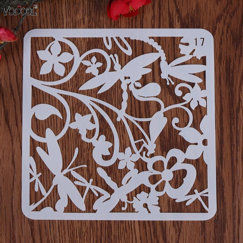 2018 VODOOL NEW DIY Craft Dragonfly Layering Plastic Stencils Scrapbooking Stamp Painting Stamps Fine Album Decorative Paper lovely chicken transparent clear silicone stamp seal for diy scrapbooking photo album decorative clear stamp sheets