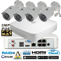Dahua 4Ch 1080P NVR4108 P Kit Bullet IP Camera System P2P 4 Channel POE NVR System