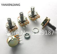 10 PCS High Quality WH148 B10K Linear Potentiometer 15mm Shaft With Nuts And Washers Hot