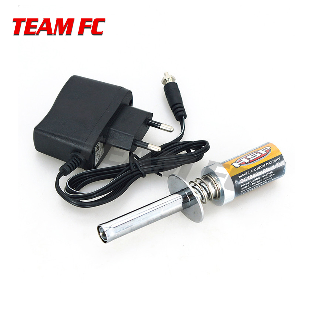 HSP Gas RC Nitro Engine motor glow 1.2V 1800MA 3600MA RECHARGEABLE GLOW PLUG Starter Igniter AC Charger for RC 1/8 1/10 Car S231
