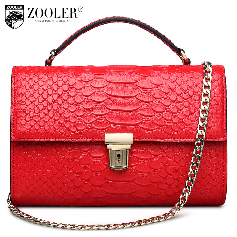 ФОТО losing money sales !!ZOOLER 2017 limited 100% cowhide women messenger bags women shoulder bag genuine leather bags chains  #1668