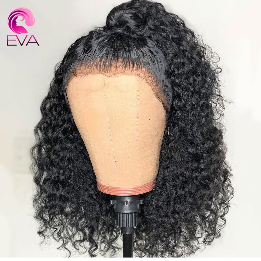 150% Density Curly 360 Lace Frontal Wig Pre Plucked With Baby Hair Brazilian Lace Front Human Hair Wigs For Women Remy Hair Eva(China)