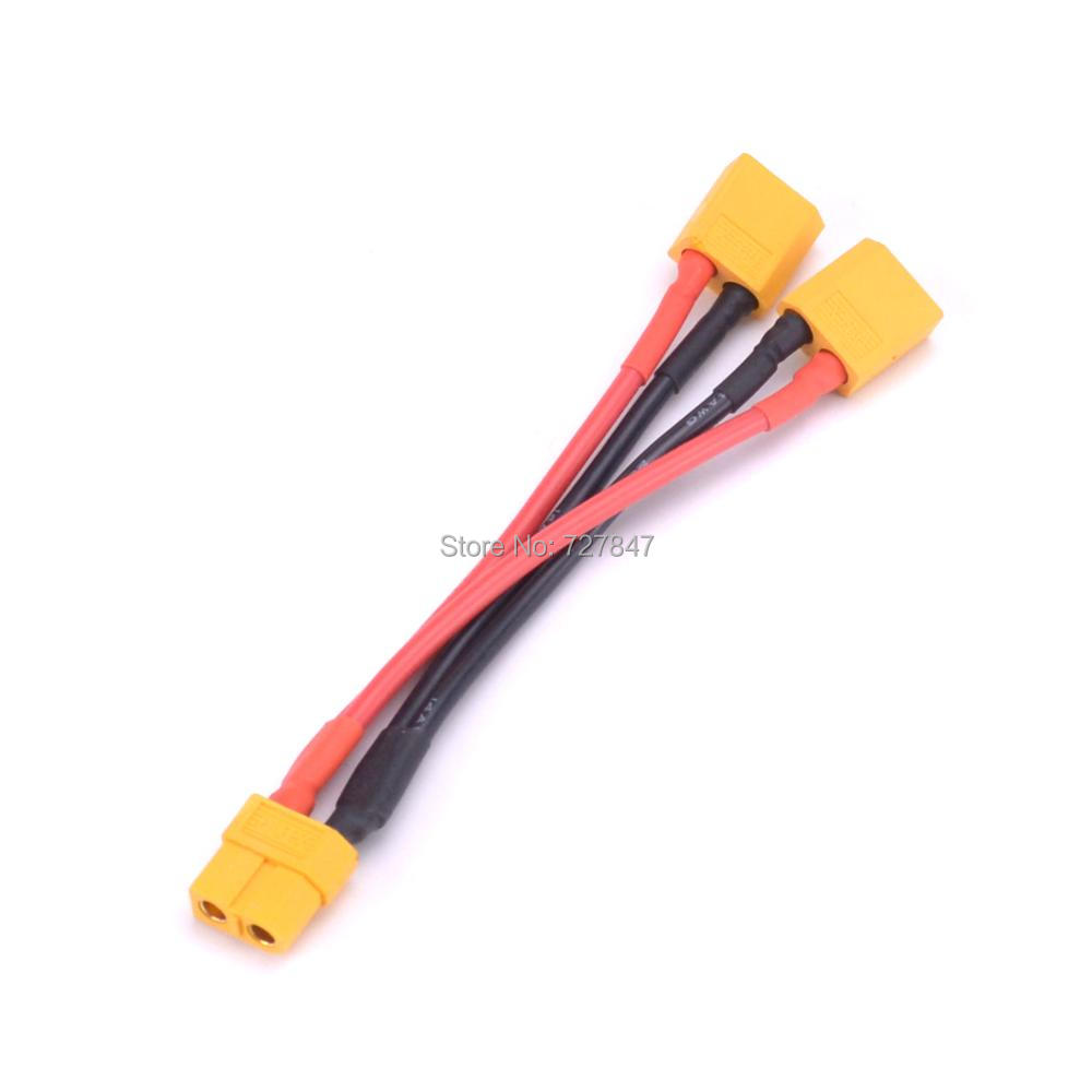 XT60 Parallel Battery Connector Cable Extension Y Splitter For Phantom