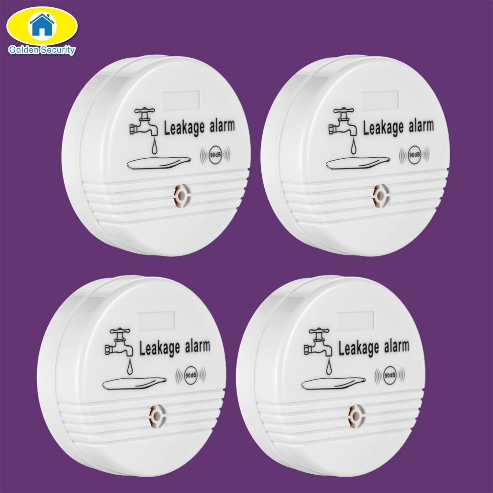 4pcs Water Leakage Sensor Alarm Detector 90dB Voice Wireless Water Leak Detector House Safety Home Security Alarm System стоимость