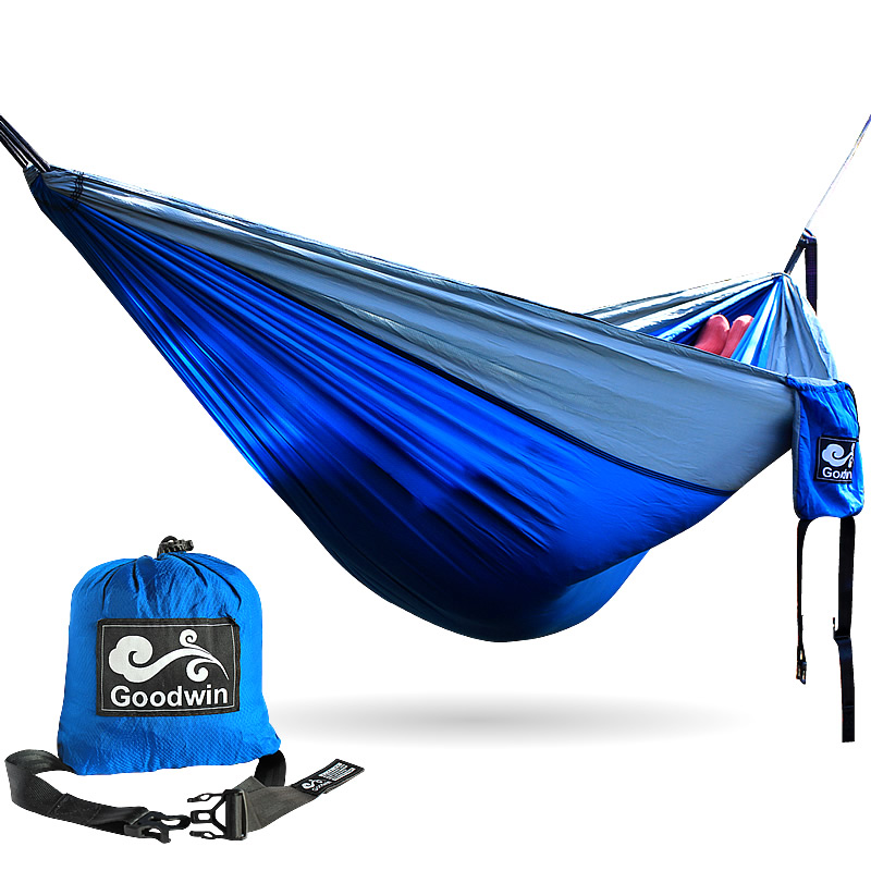 2 People Portable Parachute Hammock Outdoor Survival Camping Hammocks Garden Leisure Travel Double hanging Swing 2.6M*1.4M 3M*2M thicken canvas single camping hammock outdoors durable breathable 280x80cm hammocks like parachute for traveling bushwalking
