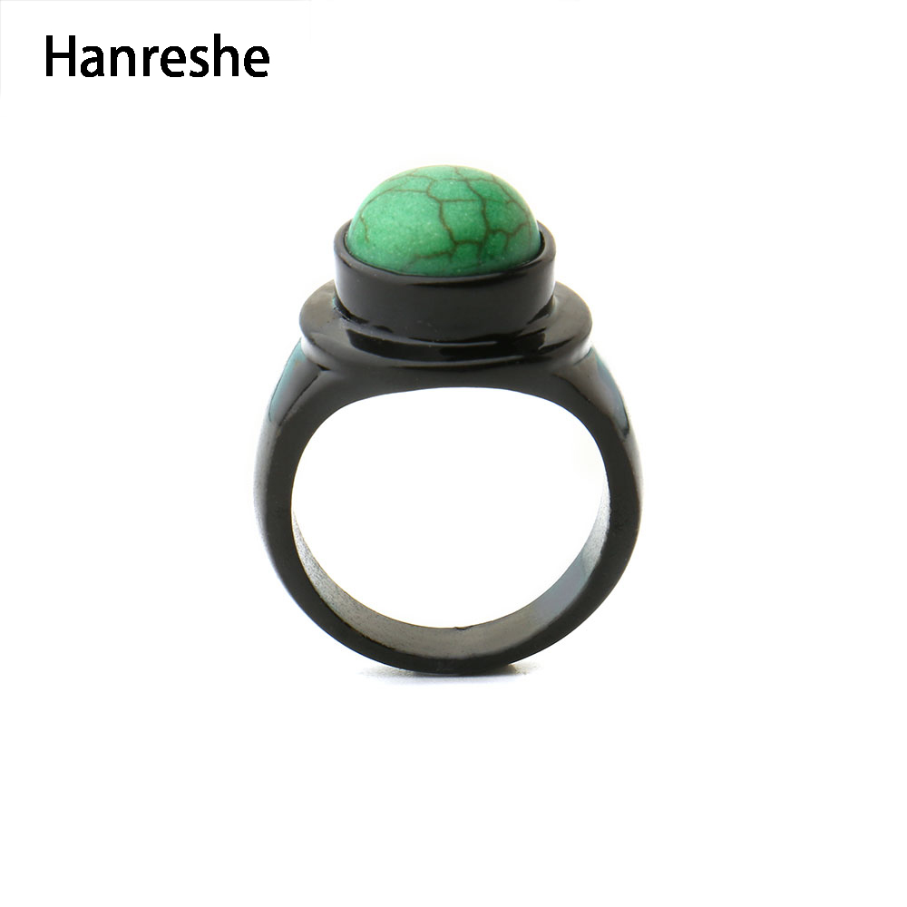 Qira Star Wars Pinky Ring Black Color with Green Stone Ring for Women Han Solo:A Star Wars Story Movie Jewelry Drop Shipping